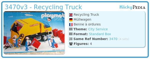 Playmobil 3470v3 - Recycling Truck
