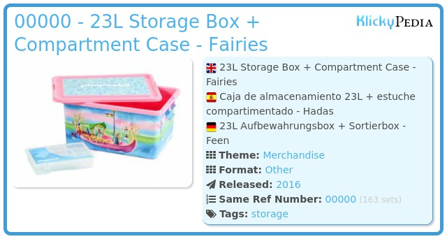 Playmobil 00000 - 23L Storage Box + Compartment Case - Fairies
