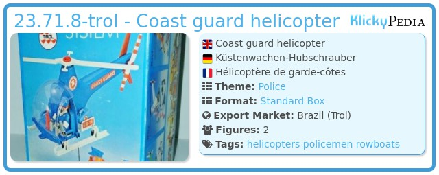 Playmobil 23.71.8-trol - Coast guard helicopter