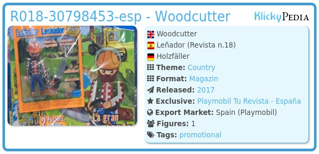 Playmobil R018-30798453-esp - Woodcutter