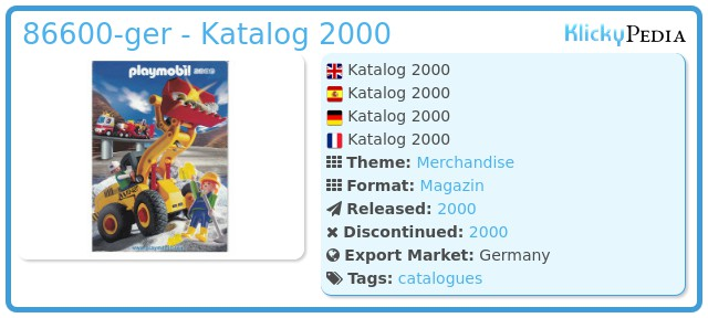 Playmobil 86600-ger - Katalog 2000