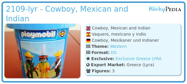 Playmobil 2109-lyr - Cowboy, Mexican and Indian