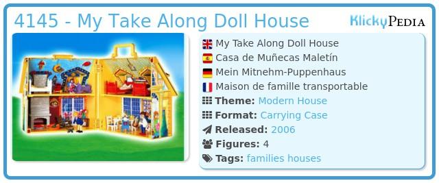 Playmobil 4145 - My Take Along Doll House