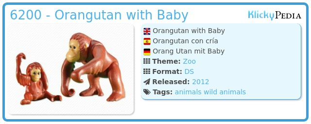 Playmobil 6200 - Orangutan with Baby