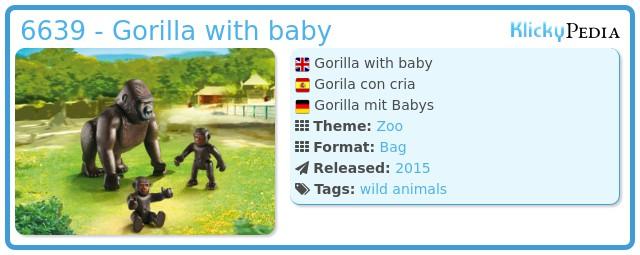 Playmobil 6639 - Gorilla with baby