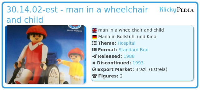 Playmobil 30.14.02-est - man in a wheelchair and child