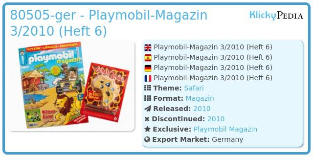 Playmobil 00000-ger - Playmobil Magazin 3/2010 (Heft 6)