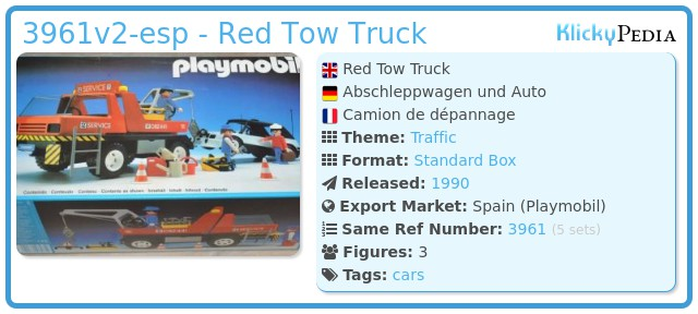 Playmobil 3961v2-esp - Red Tow Truck
