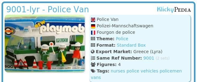 Playmobil 9001-lyr - Police Van