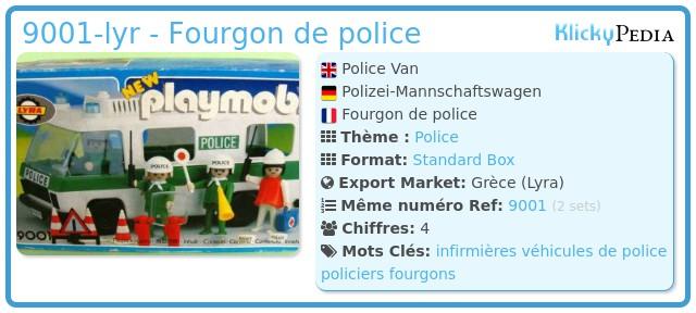Playmobil 9001-lyr - Fourgon de police
