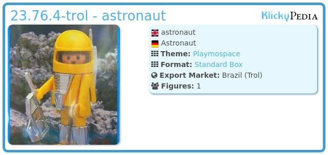 Playmobil 23.76.4-trol - astronaut