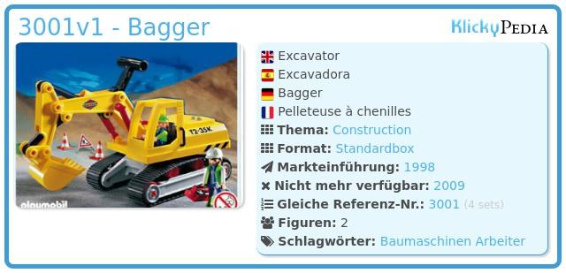 Playmobil 3001v1 - Bagger