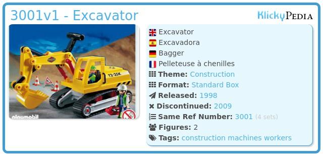 Playmobil 3001v1 - Excavator