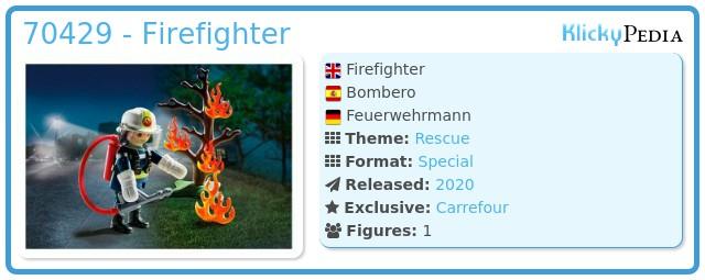 Playmobil 70429 - Firefighter