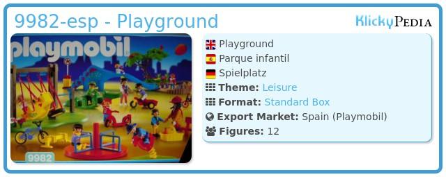 Playmobil 9982-esp - Playground