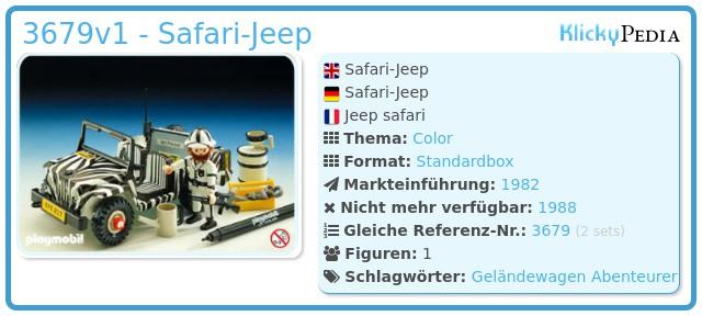 Playmobil 3679v1 - Safari-Jeep
