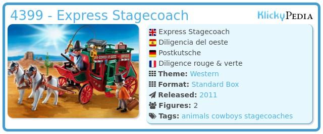 Playmobil 4399 - Express Stagecoach