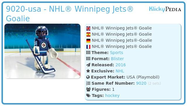 Playmobil 9020-usa - NHL® Winnipeg Jets® Goalie