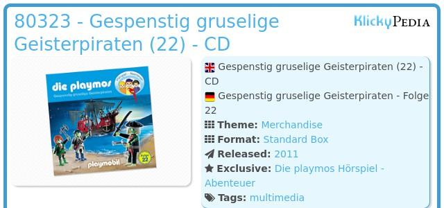 Playmobil 80323 - Gespenstig gruselige Geisterpiraten (22) - CD