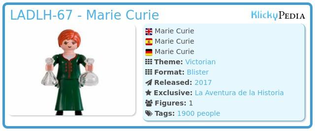 Playmobil LADLH-67 - Marie Curie
