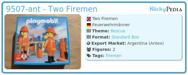 Playmobil 9507-ant - Two Firemen