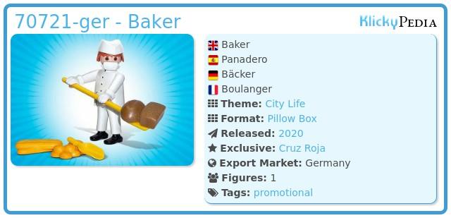 Playmobil 70721-ger - Baker