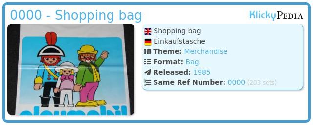 Playmobil 0000 - Shopping bag