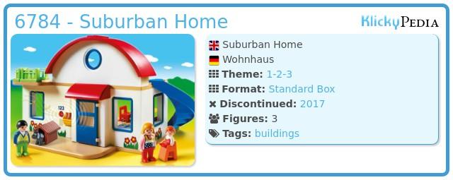 Playmobil 6784 - Suburban Home