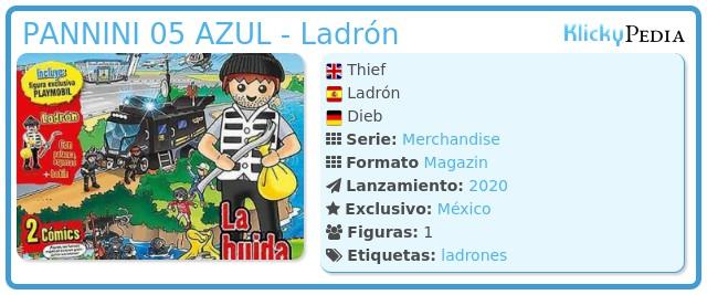 Playmobil PANNINI 05 AZUL - Ladrón