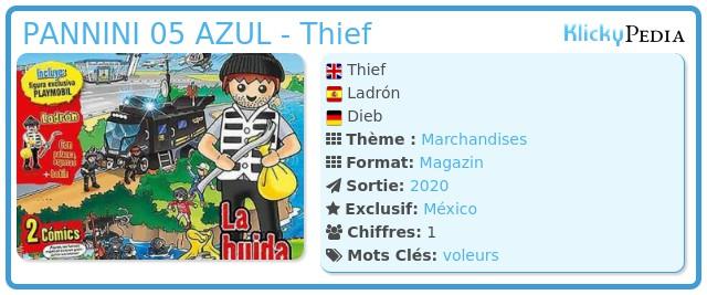 Playmobil PANNINI 05 AZUL - Thief