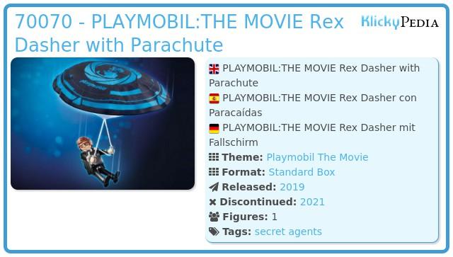 Playmobil 70070 - PLAYMOBIL:THE MOVIE Rex Dasher with Parachute