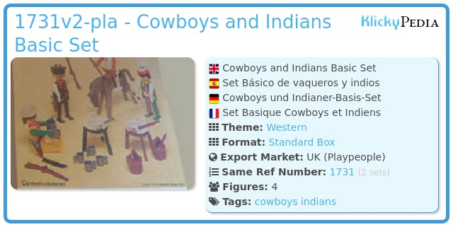 Playmobil 1731v2-pla - Cowboys and Indians Basic Set