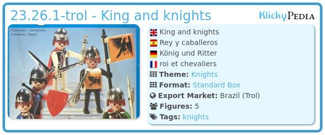 Playmobil 23.26.1-trol - King and knights