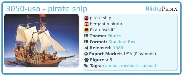 Playmobil 3050-usa - pirate ship