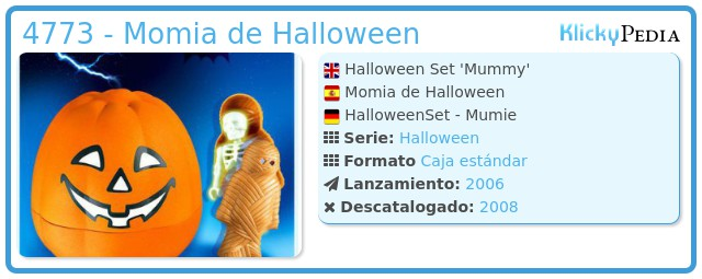 Playmobil 4773 - Momia de Halloween