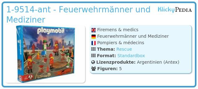 Playmobil 1-9514-ant - Feuerwehrmänner und Mediziner
