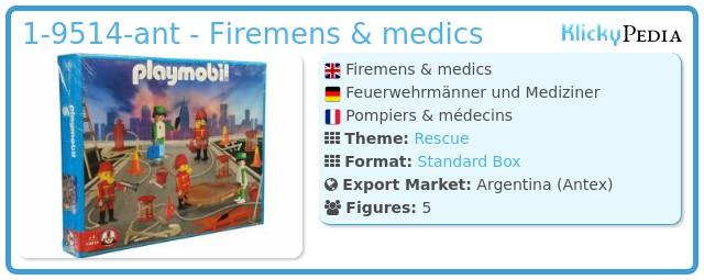 Playmobil 1-9514-ant - Firemens & medics