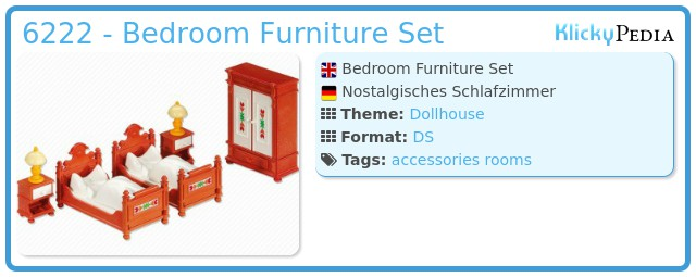 Playmobil 6222 - Bedroom Furniture Set