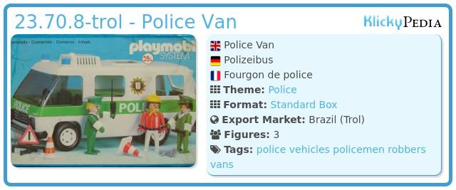 Playmobil 23.70.8-trol - Police Van