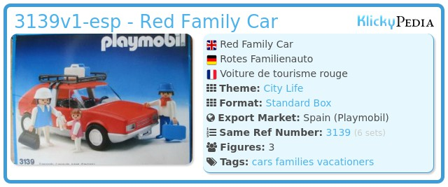 Playmobil 3139v1-esp - Red Family Car