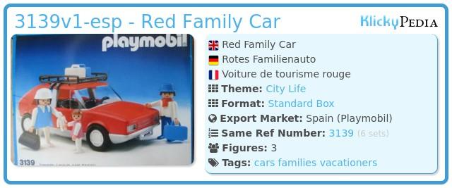 Playmobil 3139v1-esp - Red Family Car