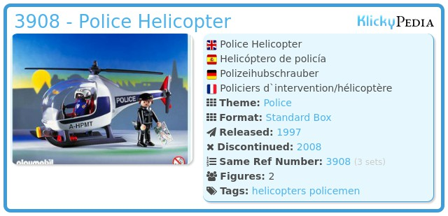 Playmobil 3908 - Police Helicopter