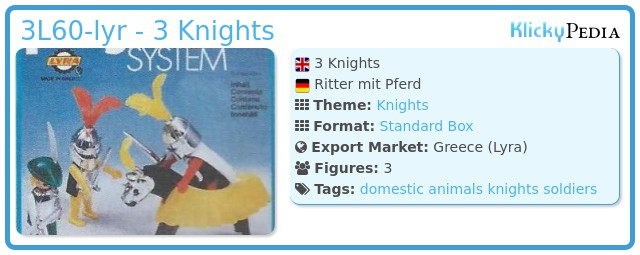Playmobil 3L60-lyr - 3 Knights