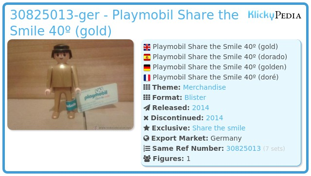 Playmobil 30825013-ger - Playmobil Share the Smile 40º (gold)