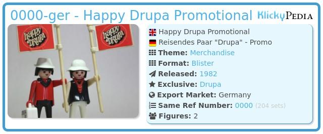 Playmobil 0000-ger - Happy Drupa Promotional