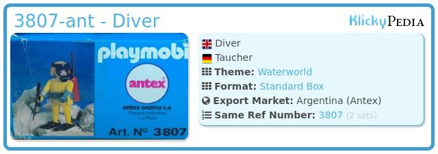 Playmobil 3807-ant - Diver