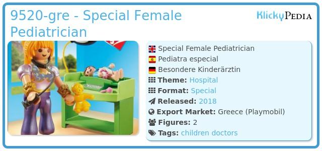 Playmobil 9520-gre - Special Female Pediatrician