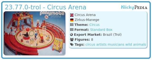 Playmobil 23.77.0-trol - Circus Arena