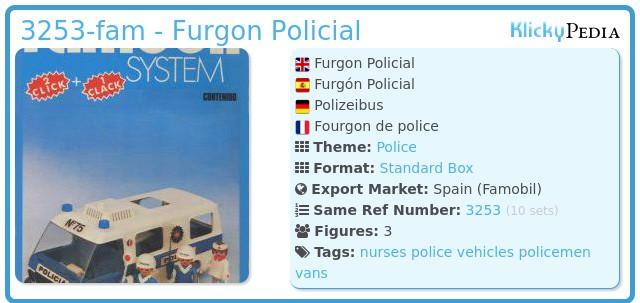 Playmobil 3253-fam - Furgon Policial