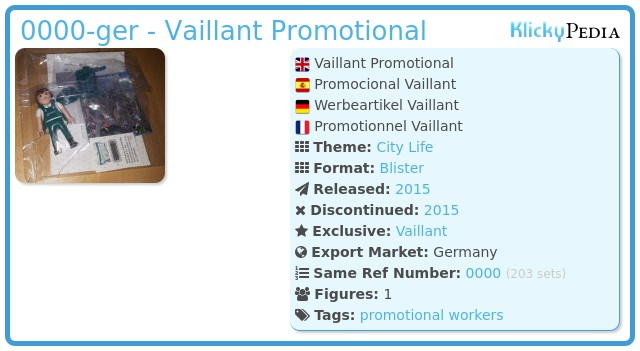 Playmobil 0000-ger - Vaillant Promotional